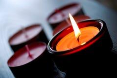 Kerze deco stockbilder