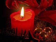 Kerze in der Adventszeit Lizenzfreies Stockbild