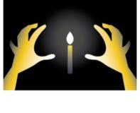 Kerze in der Nacht stock abbildung