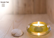 Kerze in der Sauna Stockbilder