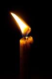 Kerze in der Schwärzung Stockbilder
