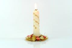 Kerze des neuen Jahres Stockbild