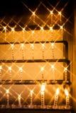 Kerze durch Querfilter Stockbild
