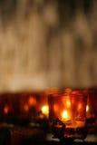 Kerze in einer Kirche Lizenzfreie Stockbilder