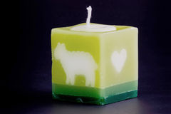 Kerze für Badekurort und Rücksortierung. Lizenzfreie Stockfotografie