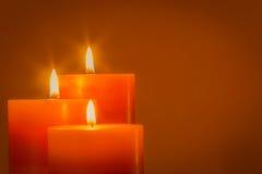 Kerze für Weihnachten stockfotografie