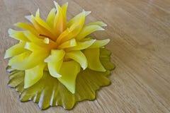 Kerze in Form einer Blume Lizenzfreies Stockbild
