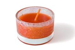 Kerze getrennt auf weißem Hintergrund Lizenzfreies Stockbild