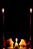 Kerze-Häuser Lizenzfreie Stockfotos