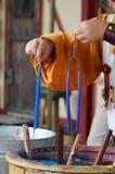 Kerze-Hersteller Stockbild