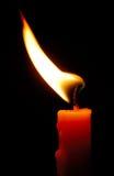 Kerze im Wind Stockfotos