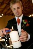 Kerze-Leuchte lizenzfreies stockfoto