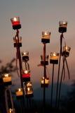 Kerze-Leuchten Stockfotos