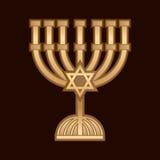 Kerze Menorah Israel Lizenzfreies Stockfoto