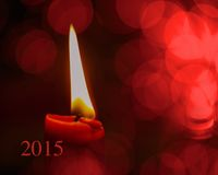 Kerze mit Jahr Stockfotos