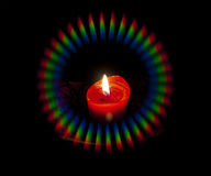 Kerze mit Stern-Nebelfleck-Halo Stockfotografie