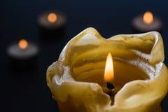 Kerze, Nacht, Geheimnis lizenzfreie stockfotos