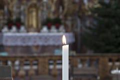 Kerze ohne einen Wind Lizenzfreies Stockfoto