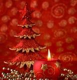 Kerze und Baum Lizenzfreie Stockbilder