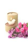 Kerze und Blume Lizenzfreies Stockbild