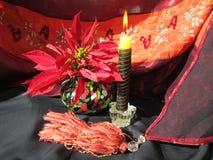 Kerze und Blume Stockbilder