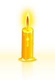 Kerze und Flamme Stockfotos