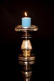 Kerze und Halter Lizenzfreies Stockfoto