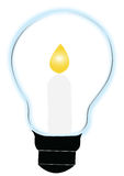 Kerze und Lampe Lizenzfreies Stockbild