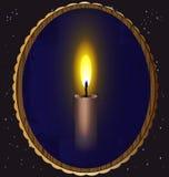 Kerze und Spiegel Stockbild