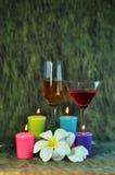 Kerze und wildes stockbilder