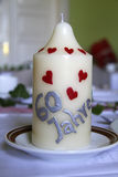Kerzefeier des sechzigsten Geburtstages Stockbild