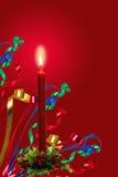 Kerzeleuchte und -farbbänder Stockbilder