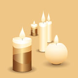 Kerzen Vektor Abbildung