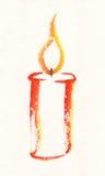 Kerzen-Aquarellmalerei Stockbild