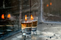 Kerzen auf Chanukka Lizenzfreies Stockbild