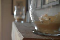 Kerzen auf dem Umhangstück Lizenzfreies Stockbild
