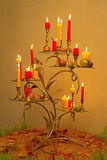 Kerzen auf einer Tabelle Stockfotografie