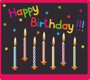 Kerzen auf Geburtstag Stockfotografie