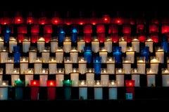 Kerzen bei Montserrat Lizenzfreie Stockbilder