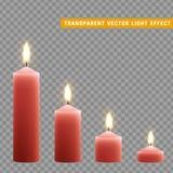 Kerzen Brand mit dem Feuer realistisch stock abbildung