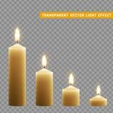 Kerzen Brand mit dem Feuer realistisch lizenzfreie abbildung