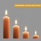 Kerzen Brand mit dem Feuer realistisch vektor abbildung
