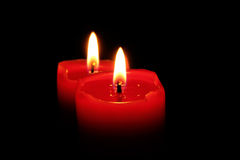 Kerzen in der Dunkelheit Lizenzfreie Stockfotos