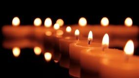Kerzen in der Tiefe stock video footage