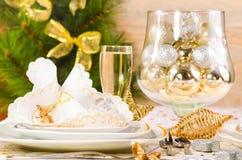 Kerzen der Weihnachtstabelle decoration Lizenzfreies Stockbild