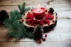 Kerzen der Weihnachtstabelle decoration Lizenzfreie Stockbilder