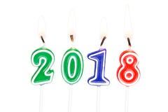 Kerzen des neuen Jahres Lizenzfreie Stockbilder