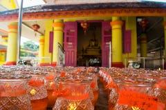 Kerzen in einem chinesischen Tempel Lizenzfreies Stockbild