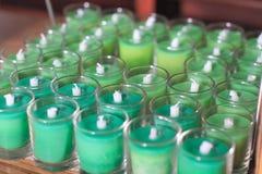 Kerzen in einem Glas Lizenzfreie Stockbilder