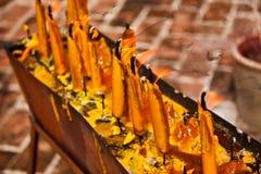 Kerzen für Anbetung Lizenzfreies Stockfoto
